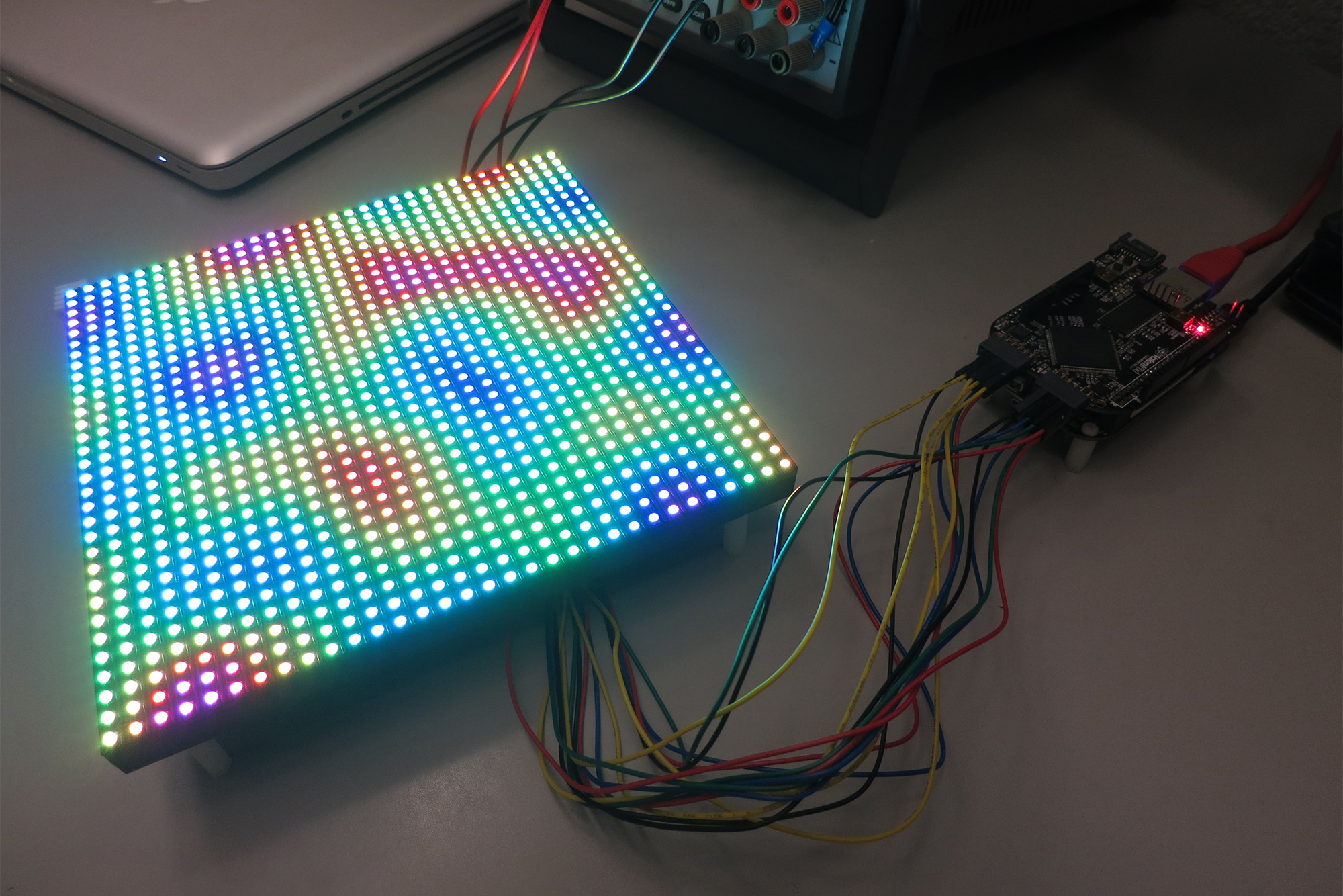 driving a 32 32 rgb led matrix with a beaglebone black and an fpga photons electrons and dirt. Black Bedroom Furniture Sets. Home Design Ideas