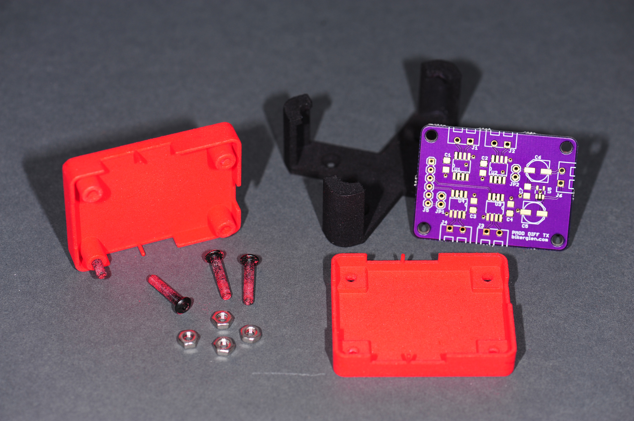 Building An Enclosure Using Sketchup And 3d Printing Photons Circuit Board Electronic Custom Electric Housing Red The