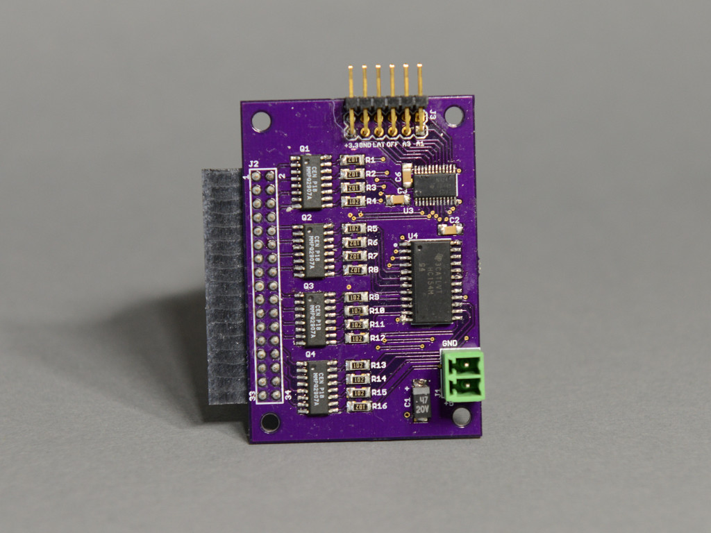 The front side of the bar graph driver board.