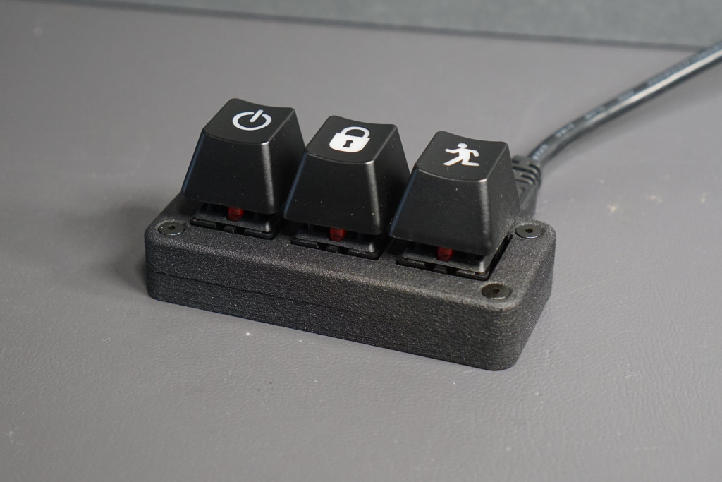 The three key USB keyboard.