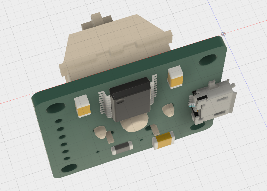 3D model of the PCB.