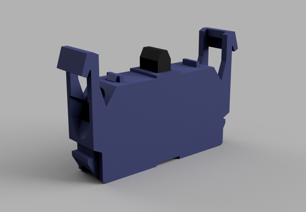 Stock Omron Contact Block 3D Model.