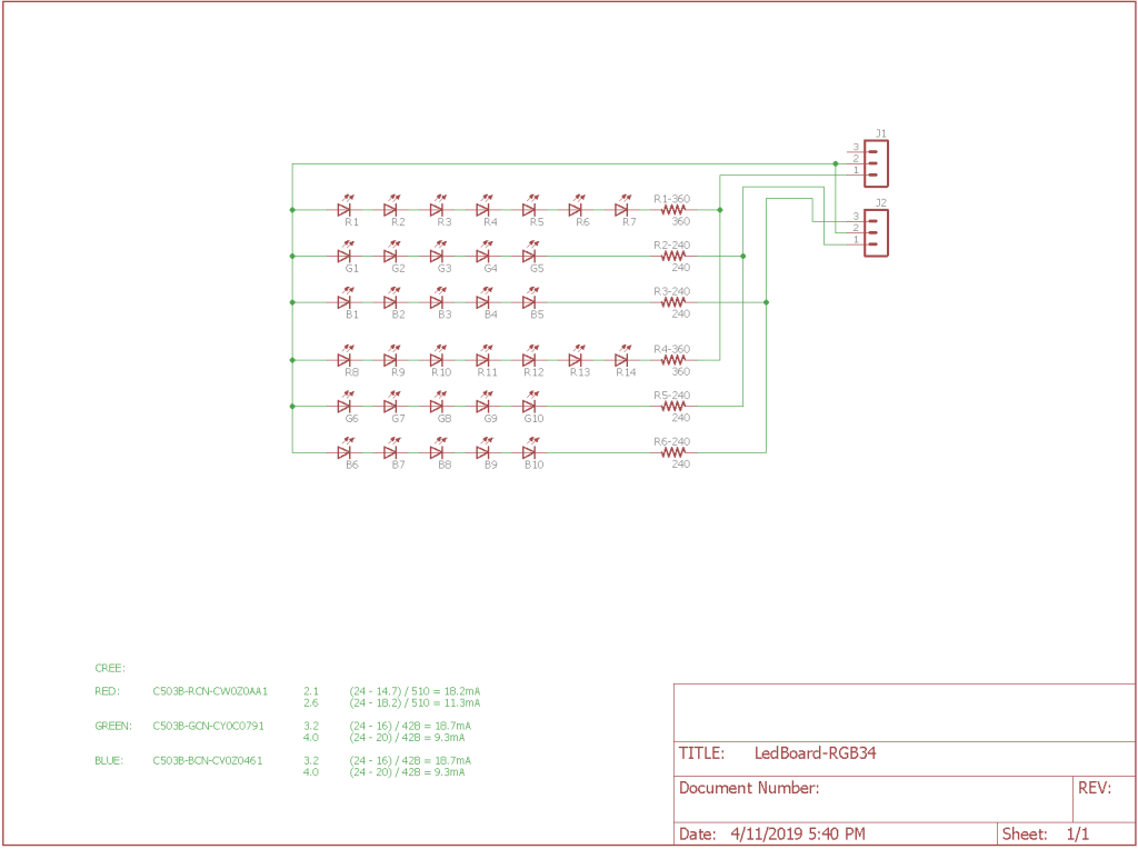 Led board schematic.