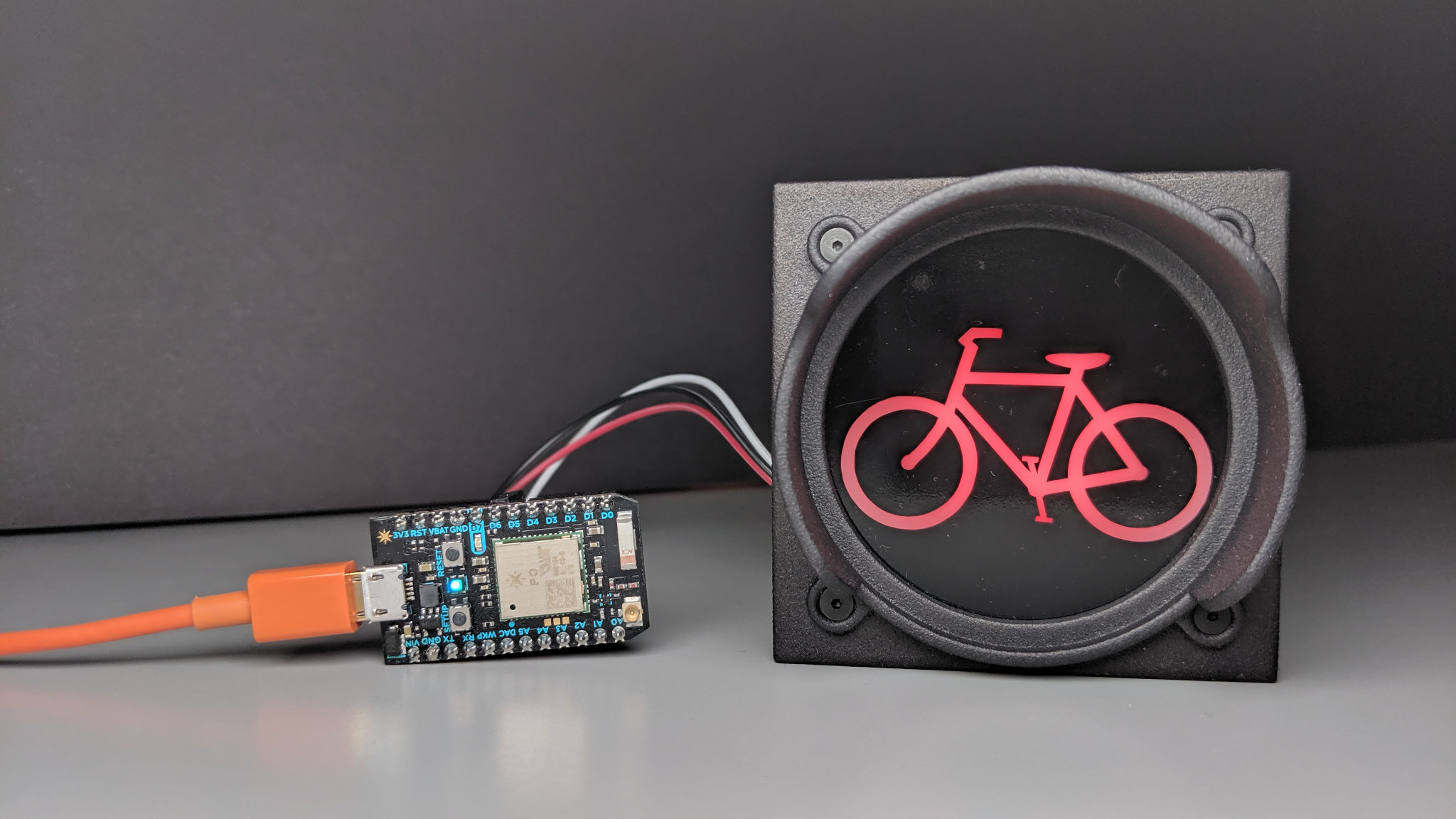 Control the Bicycle Traffic Signal with a Particle Photon