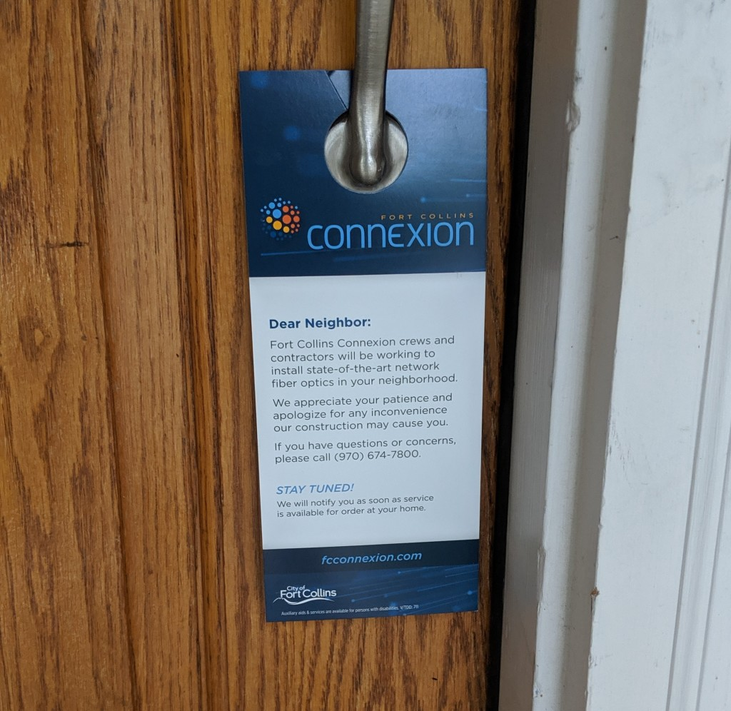 Connexion construction door flyer.
