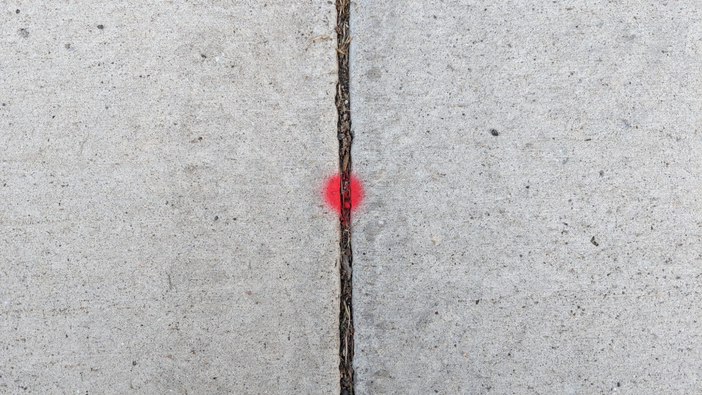 An example of dotting a driveway.