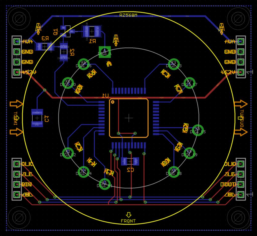 The completed circuit board.
