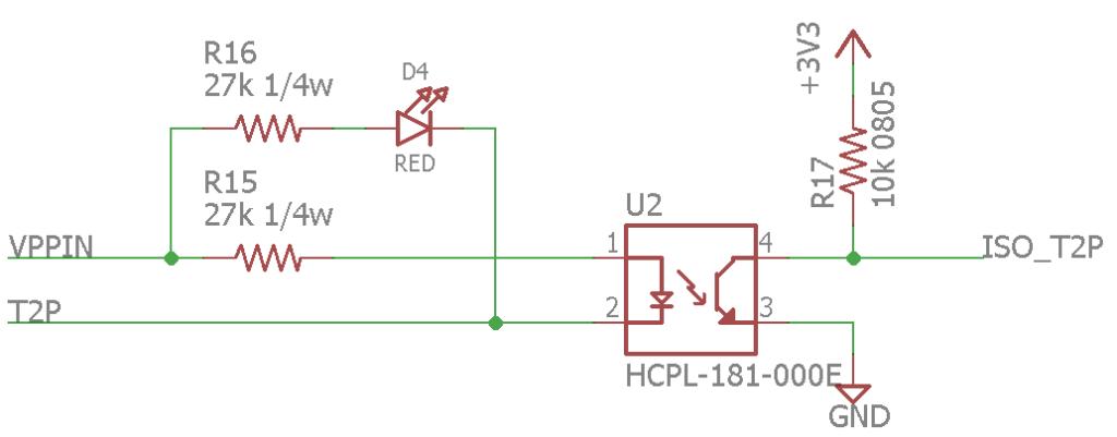 T2P flag isolation circuitry.