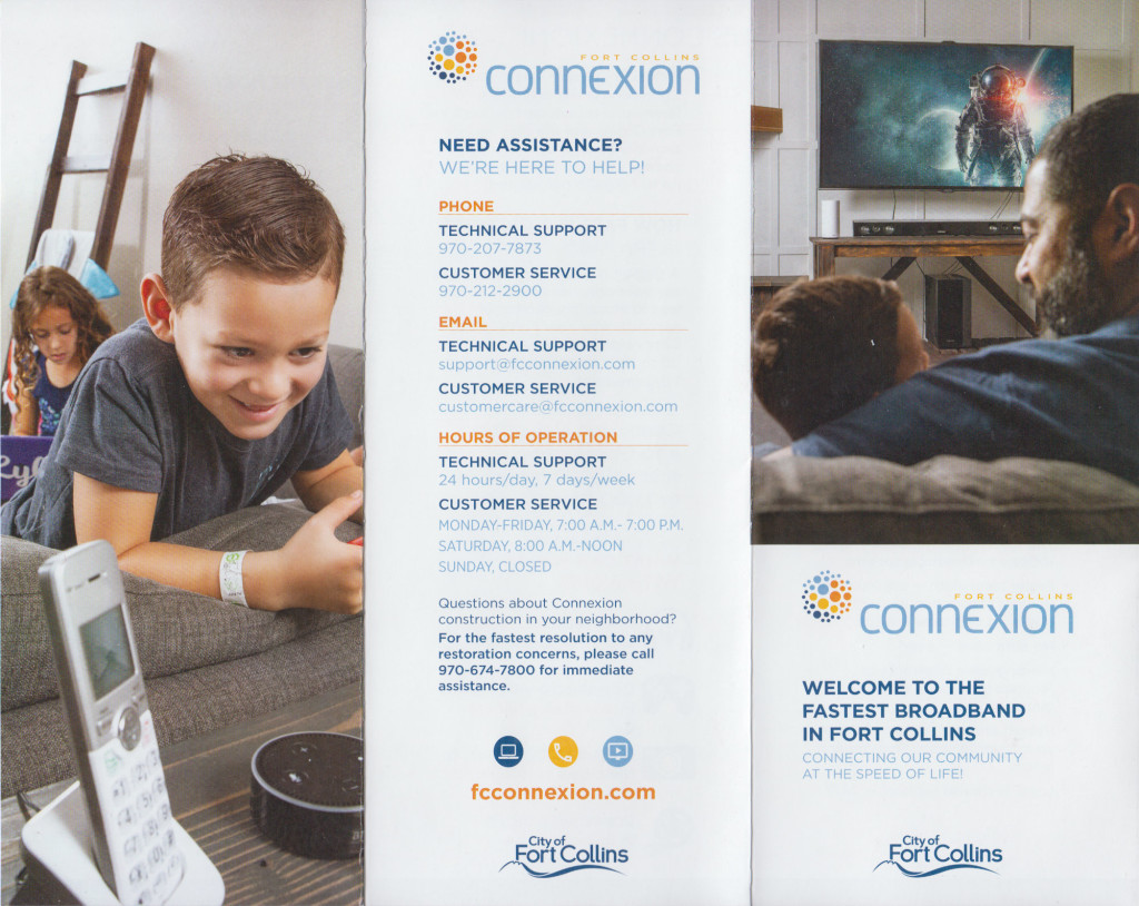 Page one of the post installation Connexion brochure.