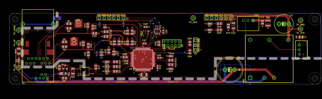 Finished control board layout.