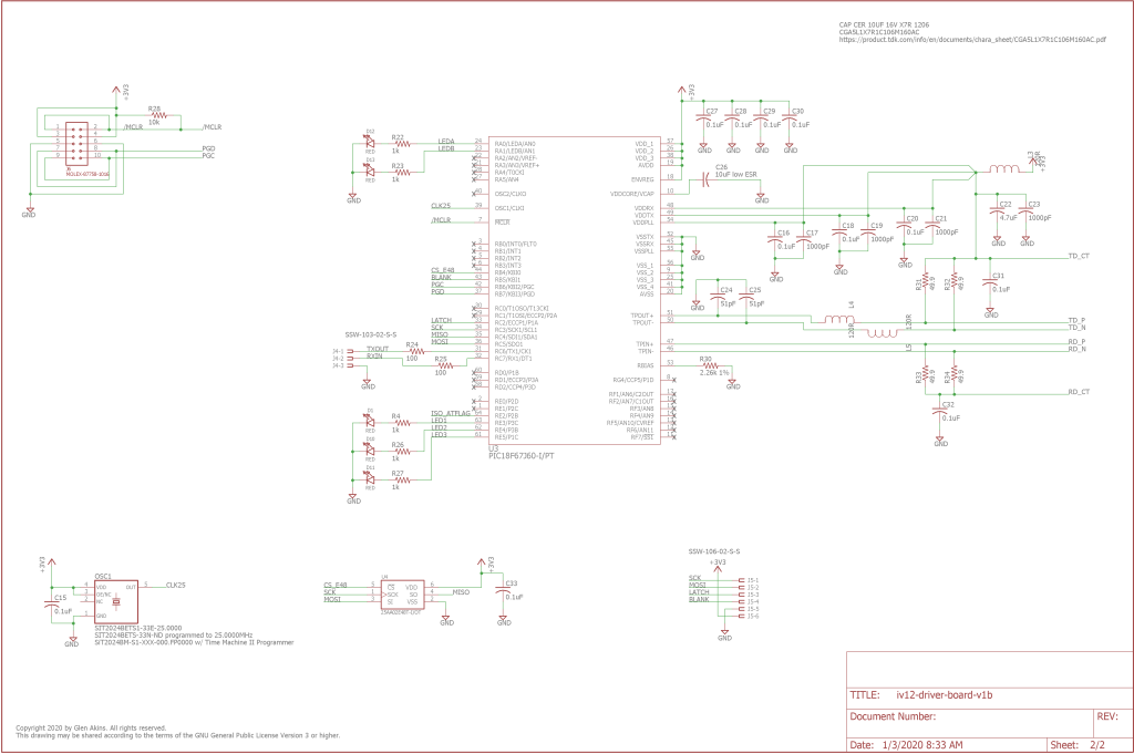 Second page of the schematic for the power / control board.
