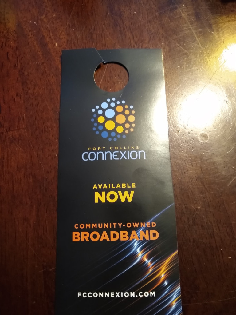 The Connexion service available flyer that Colin received on January 7, 2020.