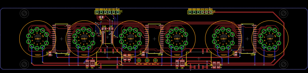 Finished tube / driver board layout.