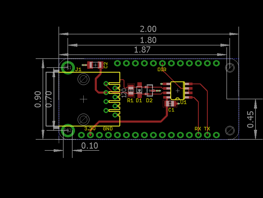 DMX-512 FeatherWing board design.
