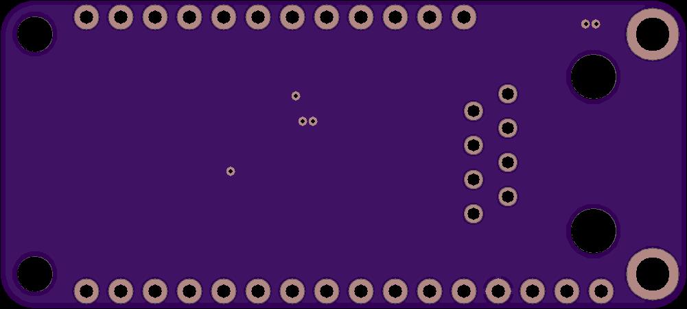 DMX-512 FeatherWing bottom side board render.