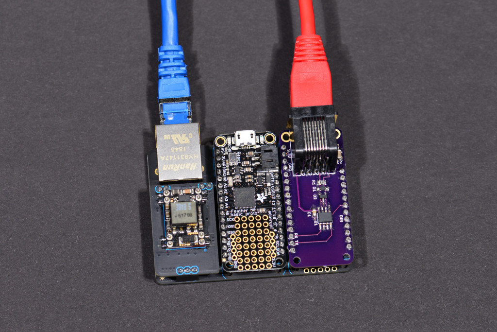 Once the software is debugged, the USB cable can be disconnected and the boards powered using the optional PoE module.