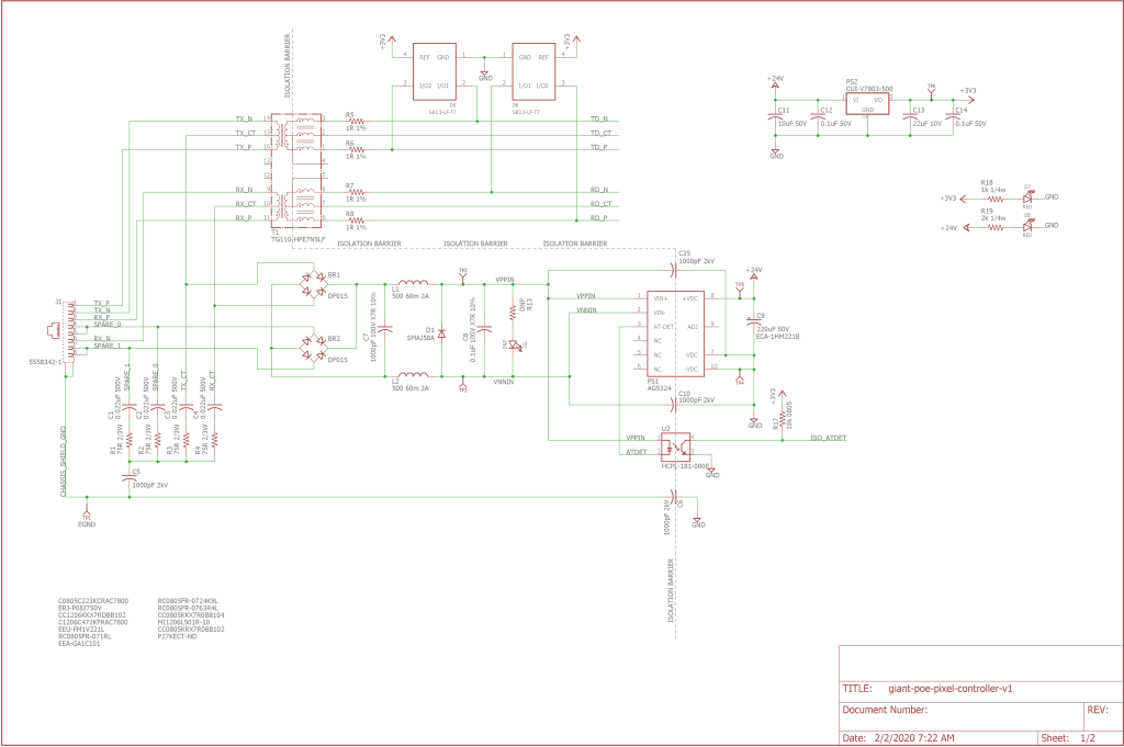 Schematic page one.