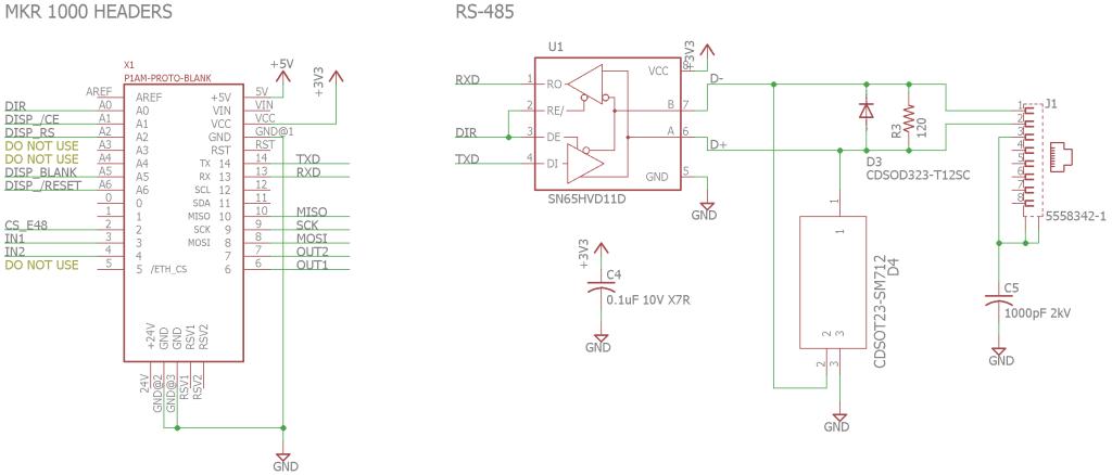 RS-485 circuitry.