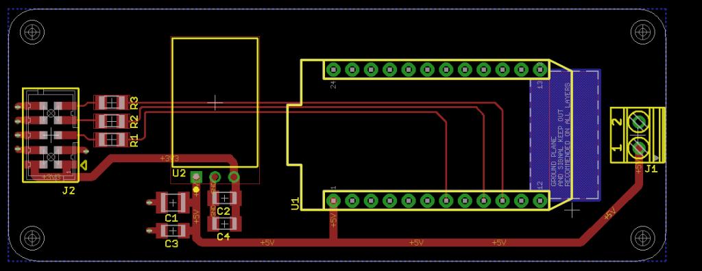 Control board layout.