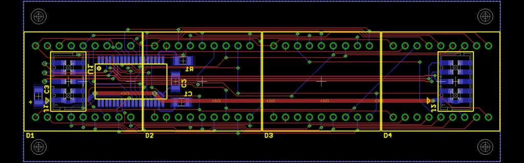 Display board layout.