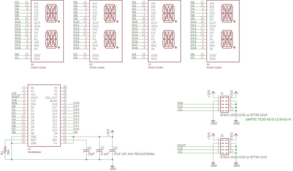Display board schematic.