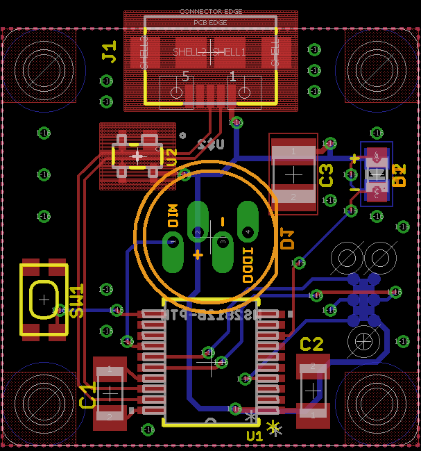 The completed board layout.
