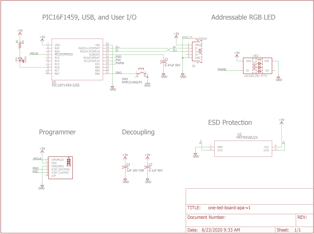 The completed schematic.