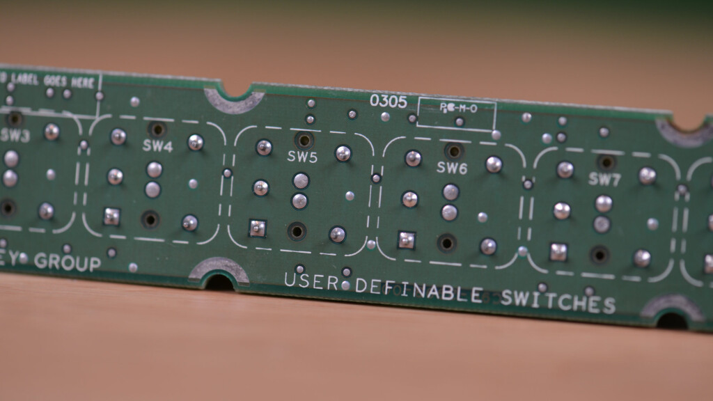 Rear view of the switch panel.