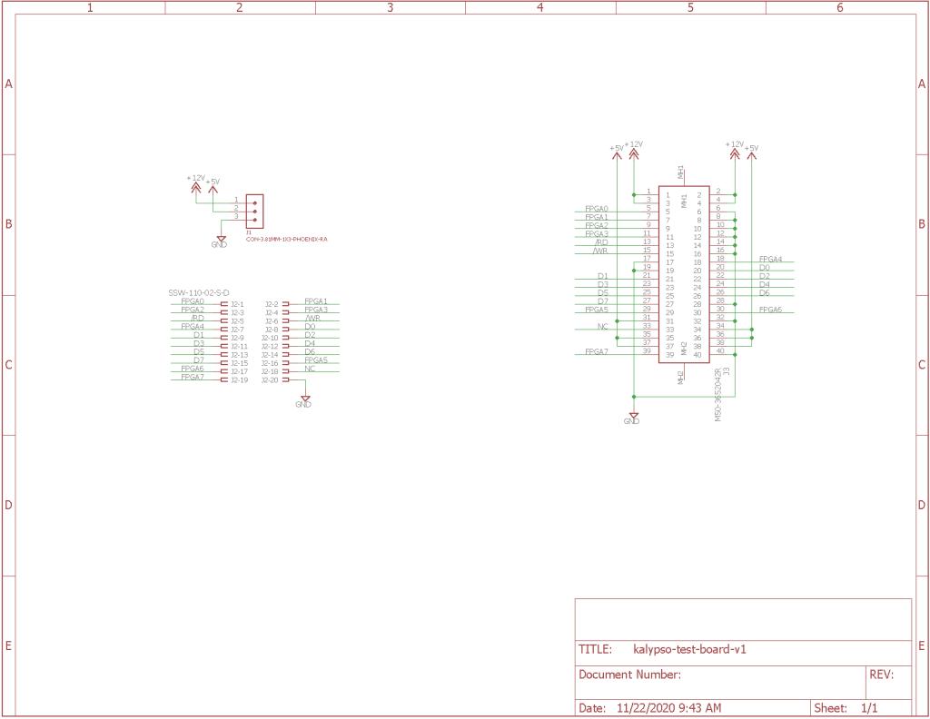 Breakout board schematic.
