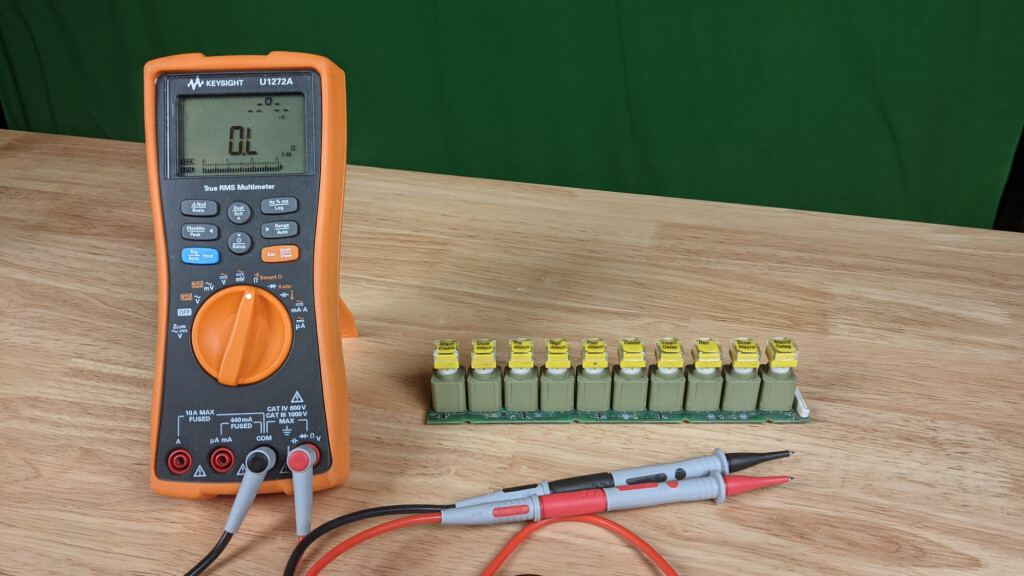 Yep, really no other way to do it. Grab a DMM and set it for continuity test. Diode test can be useful too.