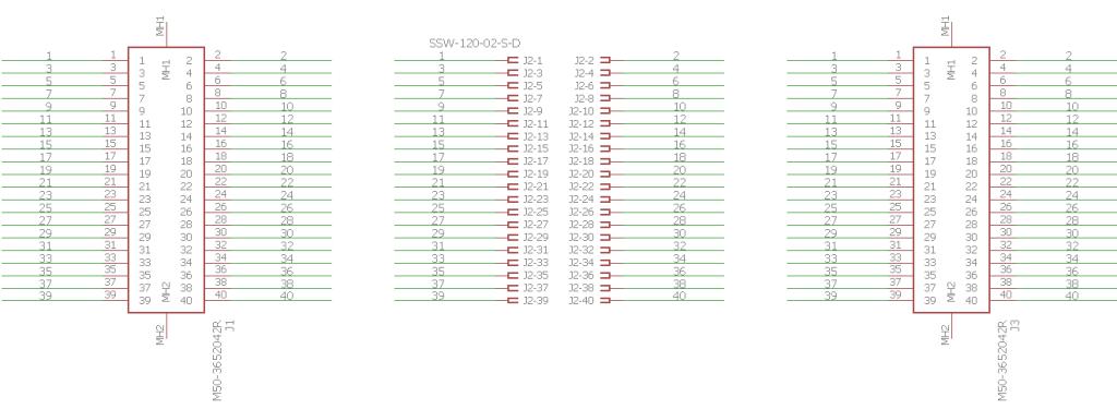 Logic analyzer breakout board schematic.