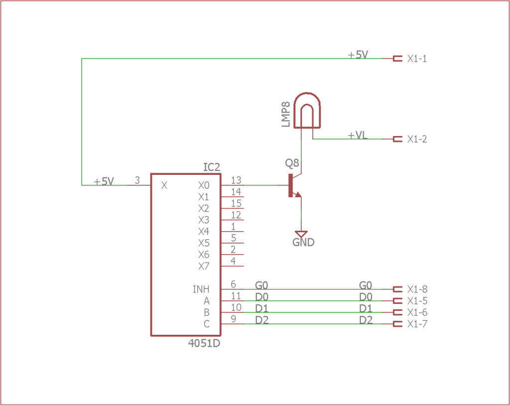 Simplified schematic for turning on a single lamp.