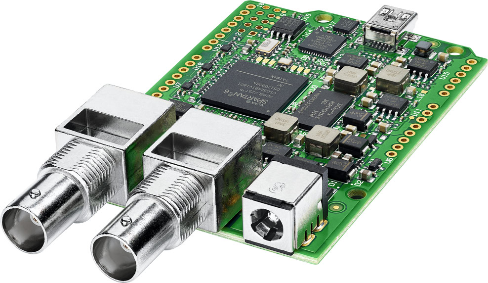 The Blackmagic 3G-SDI Shield for Arduino. Image stolen from the BMD website.
