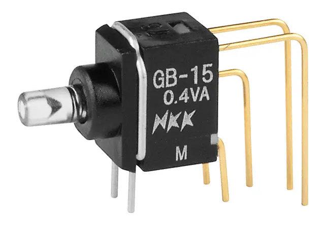 Photo of an NKK GB15JVC / GB15JVF switch from digikey.com.