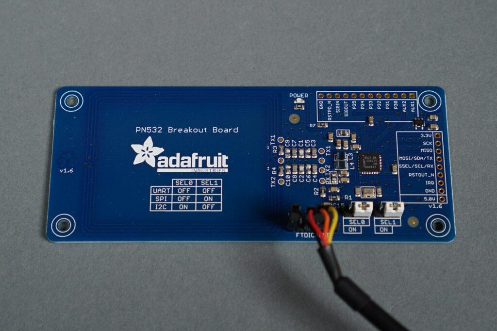 The Adafruit PN532 breakout board.