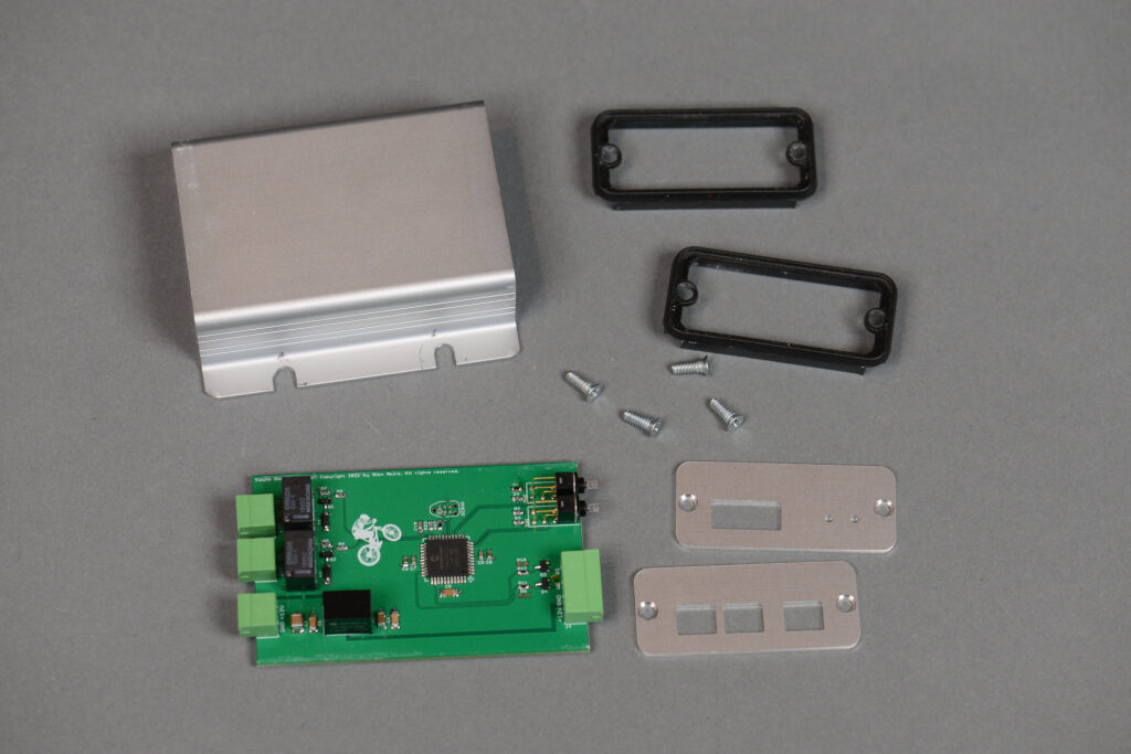 All the part required to assembled the simple access controller.
